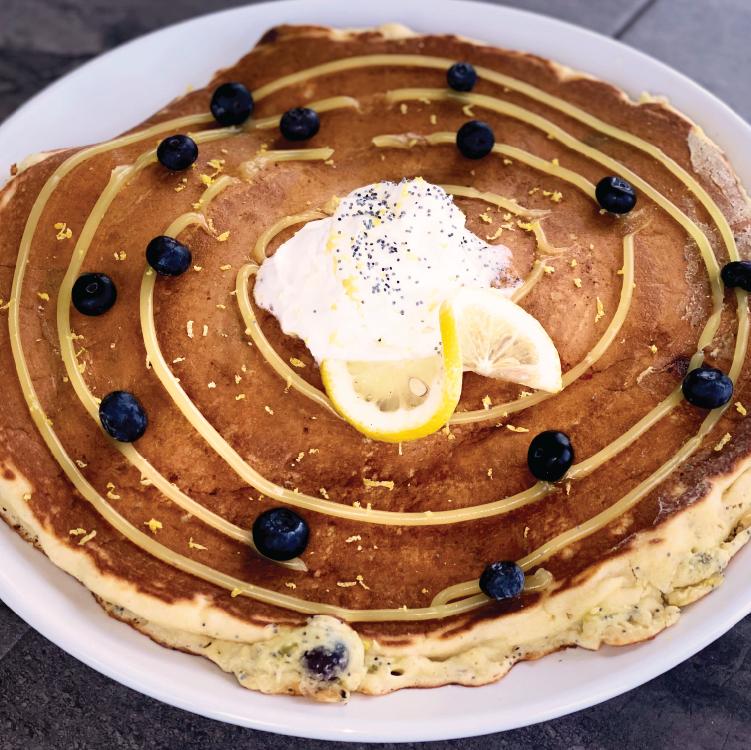 Lemon Curd Poppy Seed Pancake